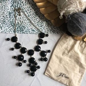 J. Crew Black Bubbled Statement Necklace